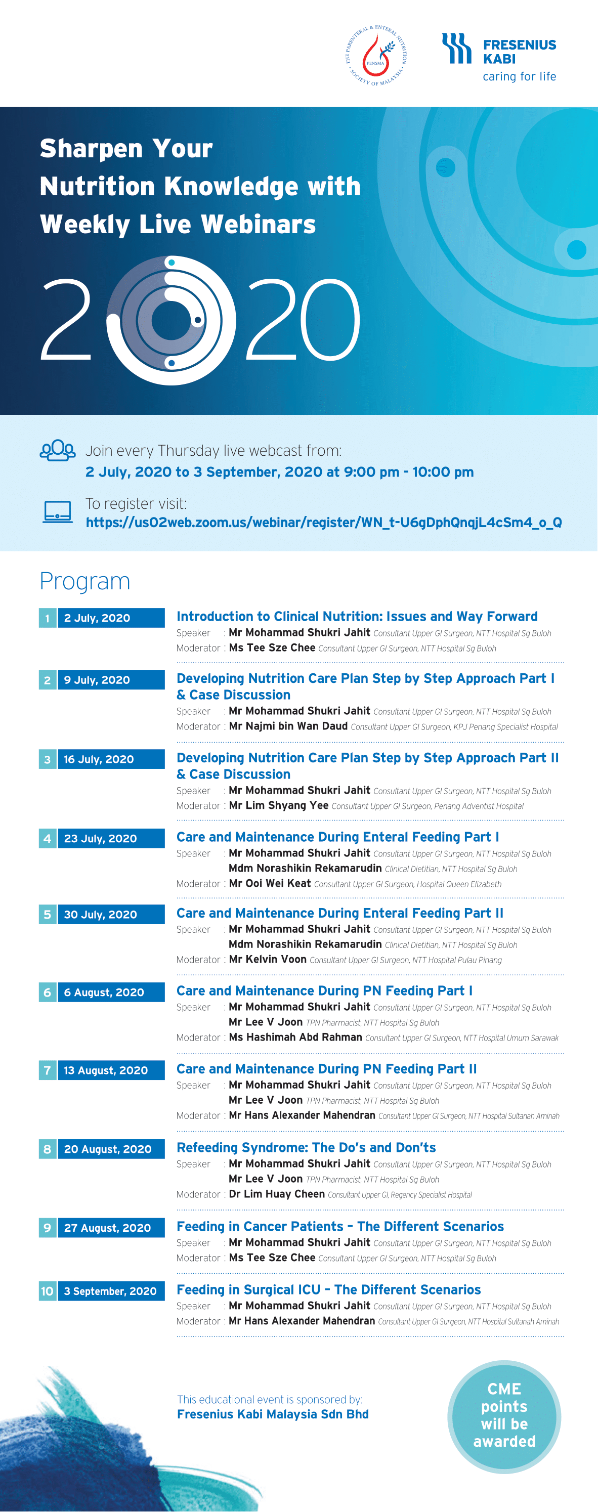 2020 Weekly Live Webinars Flyer